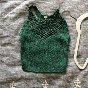 UO green knit brami